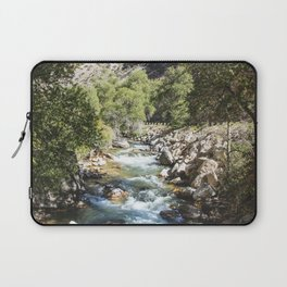 High-country stream and cottonwoods in rugged north-central Wyomings rugged Big Horn County Laptop Sleeve