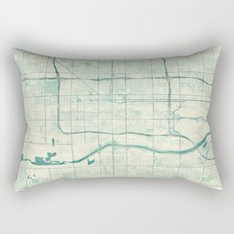 Phoenix Map Blue Vintage Rectangular Pillow