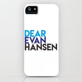 Dear Evan Hansen iPhone Case