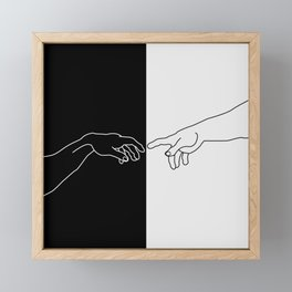Hands of God and Adam- The creation of Adam Framed Mini Art Print