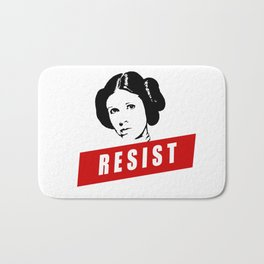 Princess Leia RESIST Star War black white red join the resistance Bath Mat