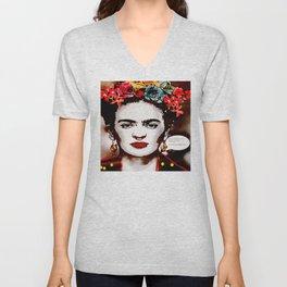 Art & Frida Kahlo Unisex V-Neck