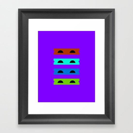 Teenage Minimal Ninja Turtles Framed Art Print