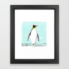 Penguin with hat Framed Art Print