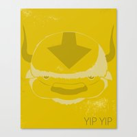 appa Canvas Prints featuring Appa - Yip Yip! by Stephanie Vanelli