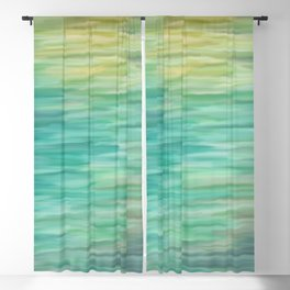 Grunge texture green color Blackout Curtain