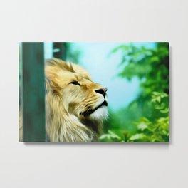 Lion Art Two Metal Print