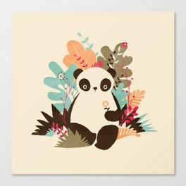 Flower Panda Canvas Print