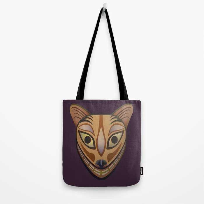 Feline tribal mask Tote Bag