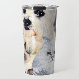 2 Cats and a Pup Travel Mug