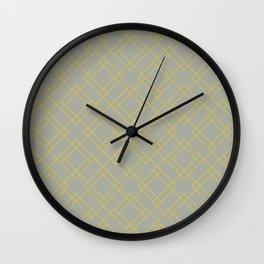 Simply Mod Diamond Mod Yellow on Retro Gray Wall Clock