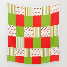 red and green  Wall Tapestry