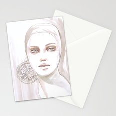 Fade fashion illustration portrait Stationery Cards