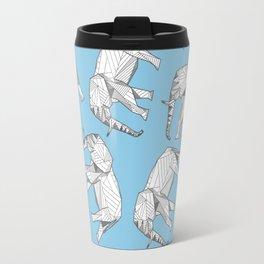 African Animals - Elephant Blue Travel Mug