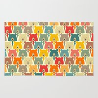 sia Area & Throw Rugs featuring Bears cartoon pattern by Mrs. Opossum