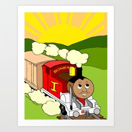 Bonifacio The Train Art Print