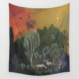 Moons of Shadow and Light Wall Tapestry