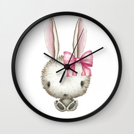 Easter Bunny Rabbit Cute Funny Gift Wall Clock