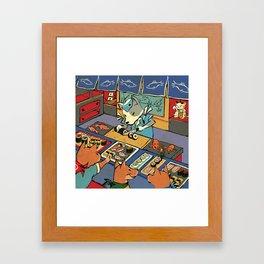 Sushi Inu Framed Art Print