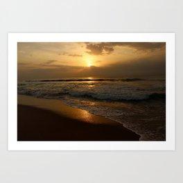 Sunrise at Marina Art Print