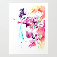girl abstraction Art Print