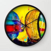 daft punk Wall Clocks featuring Daft Punk by Archan Nair