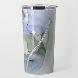 Serenity, Gray Blue Flow Travel Mug