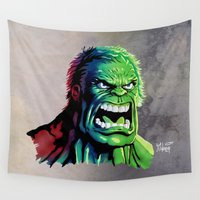 hulk Wall Tapestries featuring THE HULK by Anthony Mwangi