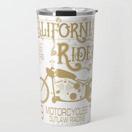 Vintage Retro Motorcycle Gift For Men California Motorcycle Racing Travel Mug