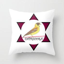 Capricorn Bird! Throw Pillow