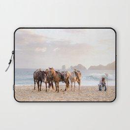 Horses and a horseman Laptop Sleeve