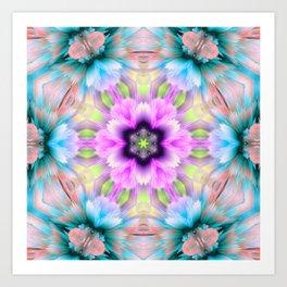 flo 3d mandala Art Print