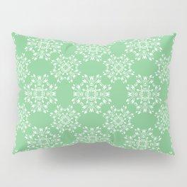 Sage Green Spring Lace Pillow Sham