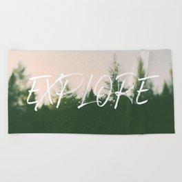 Explore (Pine) Beach Towel