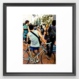 Oregon Biker Framed Art Print