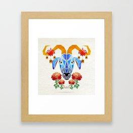 chinese goat Framed Art Print