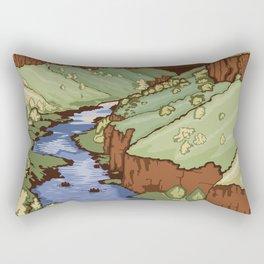 Vintage Poster - Rio Grande del Norte National Monument, New Mexico (2015) Rectangular Pillow