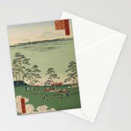 Spring Trees Mountain Ukiyo-e Japanese Art Stationery Cards