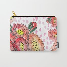 Orange Cacti Flowers Carry-All Pouch