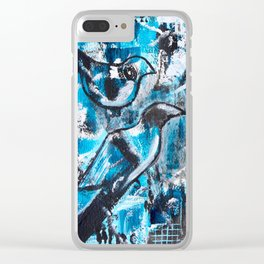 """One For Sorrow, Two For Joy"" Original Painting by Julia Barnickle Clear iPhone Case"