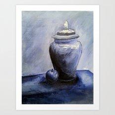 Blue Vase Art Print