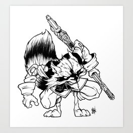 Raccoon of the galaxy Art Print