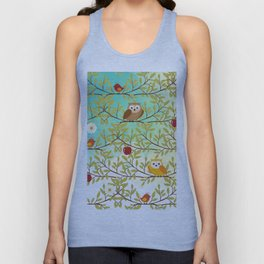 Autumn birds Unisex Tank Top