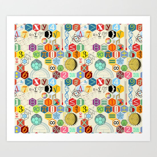 Math in color (little) Art Print