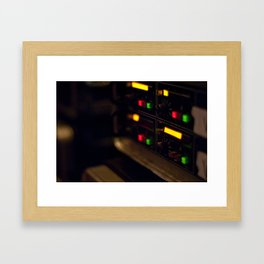 Green Sound Framed Art Print