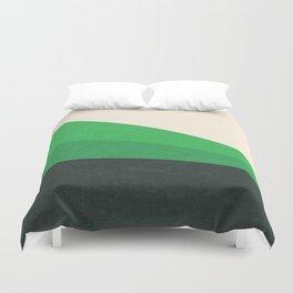 Stripe V Green Fields Duvet Cover