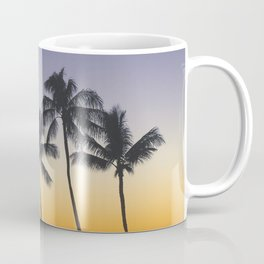 Palm Trees w/ Ombre Tropical Sunset - Hawaii Coffee Mug