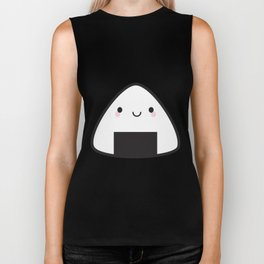Kawaii Onigiri Rice Ball Biker Tank
