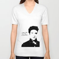 elvis V-neck T-shirts featuring Elvis by heyokawolf