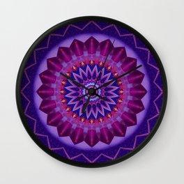 Mandala cosmic energy Wall Clock
